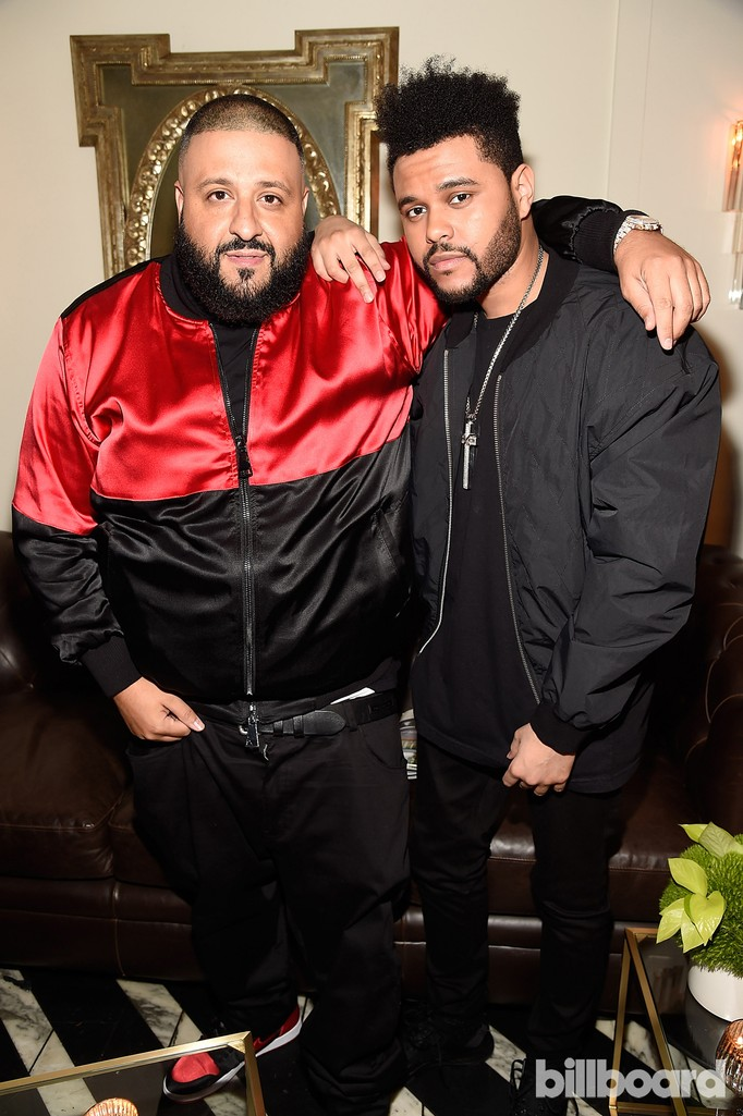 DJ Khaled and The Weeknd attend Citi Presents 2017 Billboard Power 100 Celebration at Cecconi's Restaurant on Feb. 9, 2017 in Los Angeles.