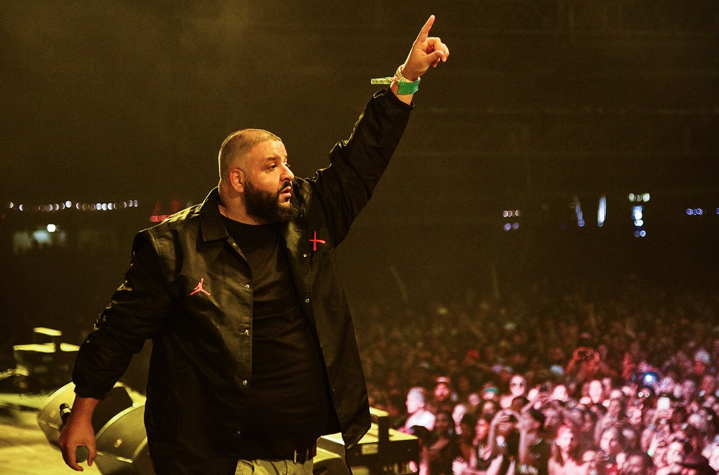 DJ Khaled performs on the Sahara stage during day 3 of the Coachella Valley Music And Arts Festival at the Empire Polo Club on April 16, 2017 in Indio, Calif.