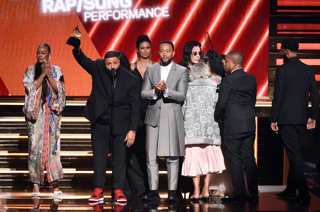 Samantha Smith, DJ Khaled, and John Legend
