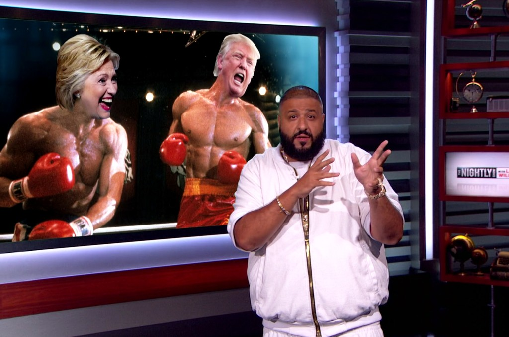 DJ Khaled on The Nightly Show with Larry Wilmore.