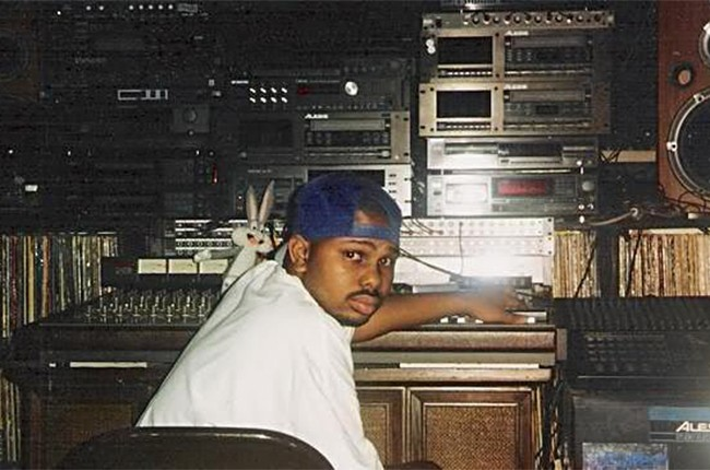 A vintage photo of DJ Screw.