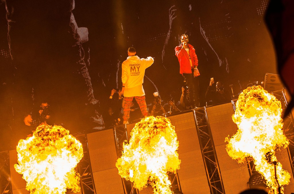 DJ Snake and Future perform at Ultra Miami 2017 on March 26, 2017 in Miami Beach, Fla.