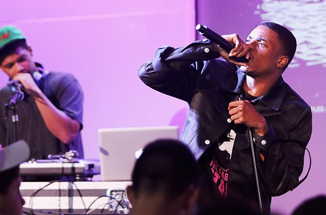 DJ Tyler and musician Vince Staples attend the Apple Store Soho Presents: Meet The Musician at the Apple Store Soho on June 30, 2015 in New York City.