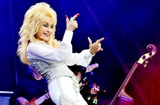 Dolly Parton at Glastonbury Festival 2014