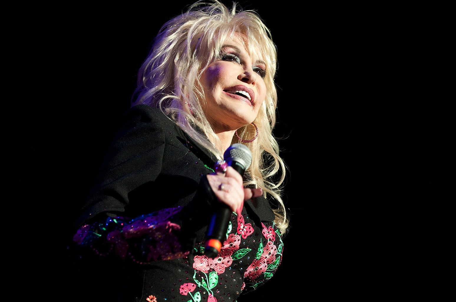 Dolly Parton performs during Marty Stuart's 10th annual Late Night Jam at the Ryman Auditorium on June 8, 2011 in Nashville, Tenn.