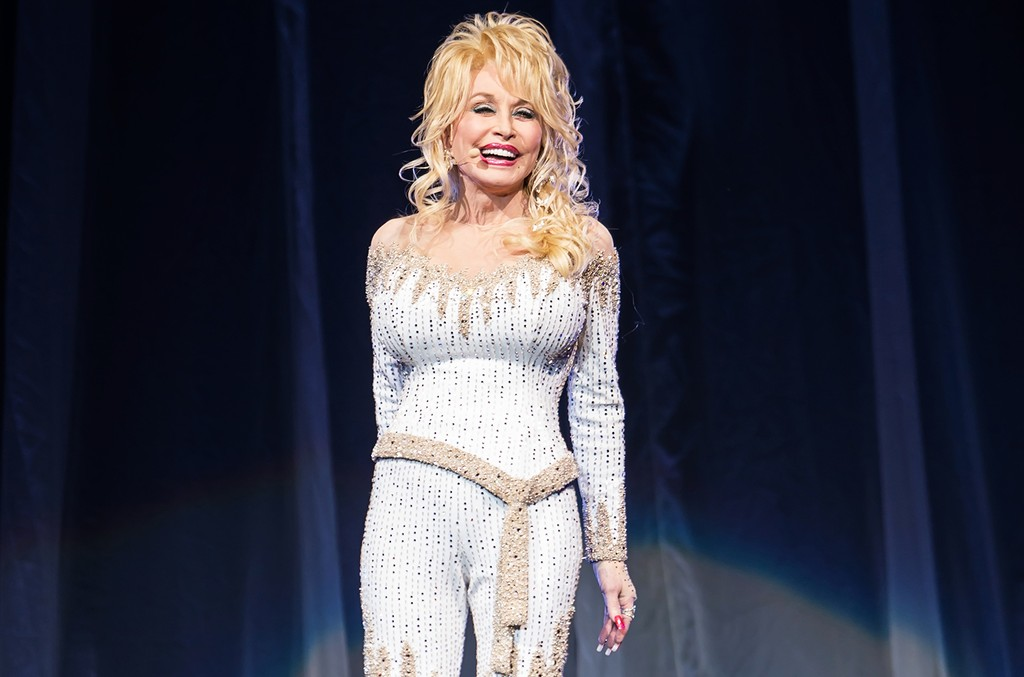Dolly Parton performs in 2015