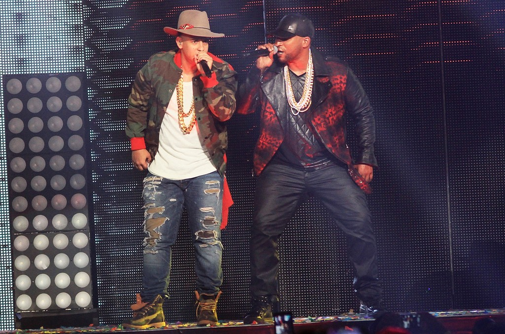 Daddy Yankee and Don Omar perform in Puerto Rico