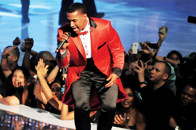 Don Omar performs during the Soberano Awards