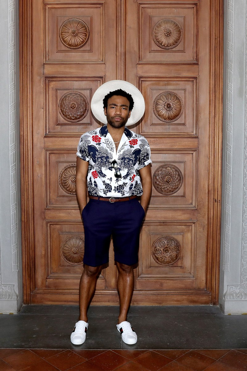 Donald Glover attends the Gucci Cruise 2018 After show party at Serre Torrigiani on May 29, 2017 in Florence, Italy.