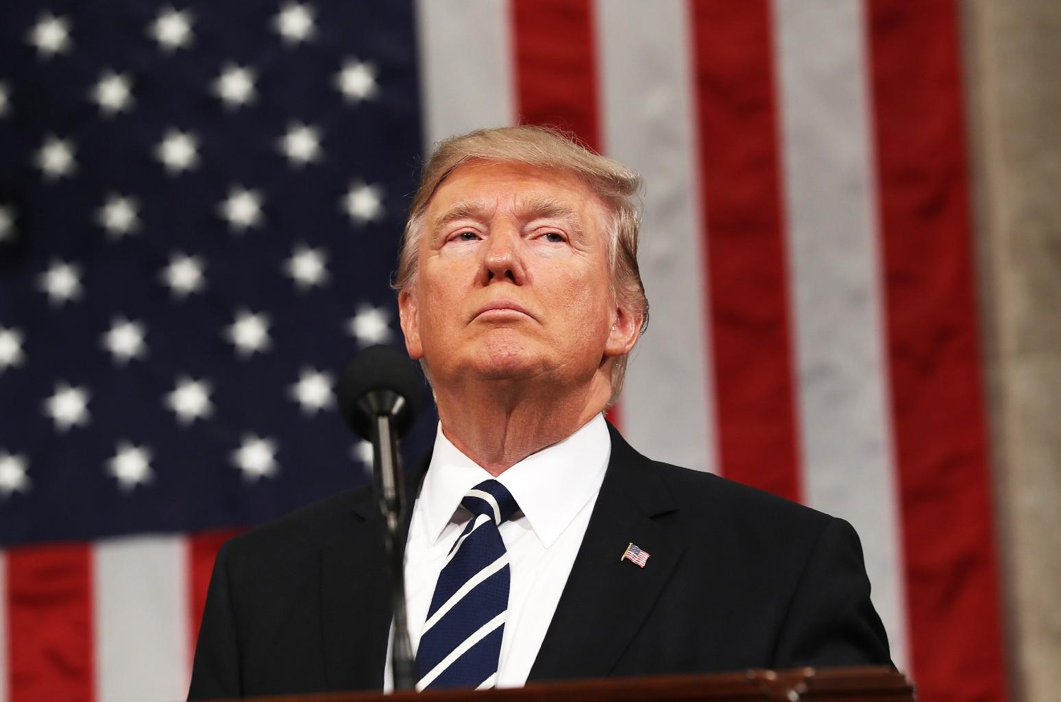 President Donald J. Trump photographed on Feb. 28, 2017 in Washington, DC.