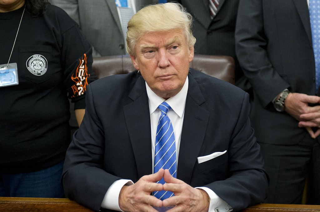 President Donald Trump at the White House on Jan. 23, 2017 in Washington, DC.