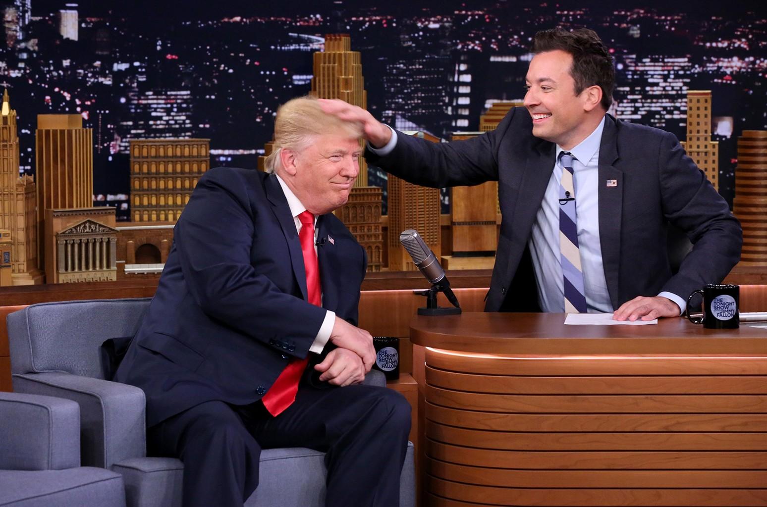 Donald Trump and Jimmy Fallon