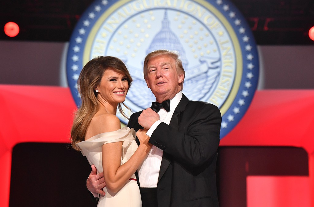 President Donald Trump and First Lady Melania Trump dance at the Freedom Ball on January 20, 2017 in Washington, D.C. Trump will attend a series of balls to cap his Inauguration day. (Photo by Kevin Dietsch - Pool/Getty Images)