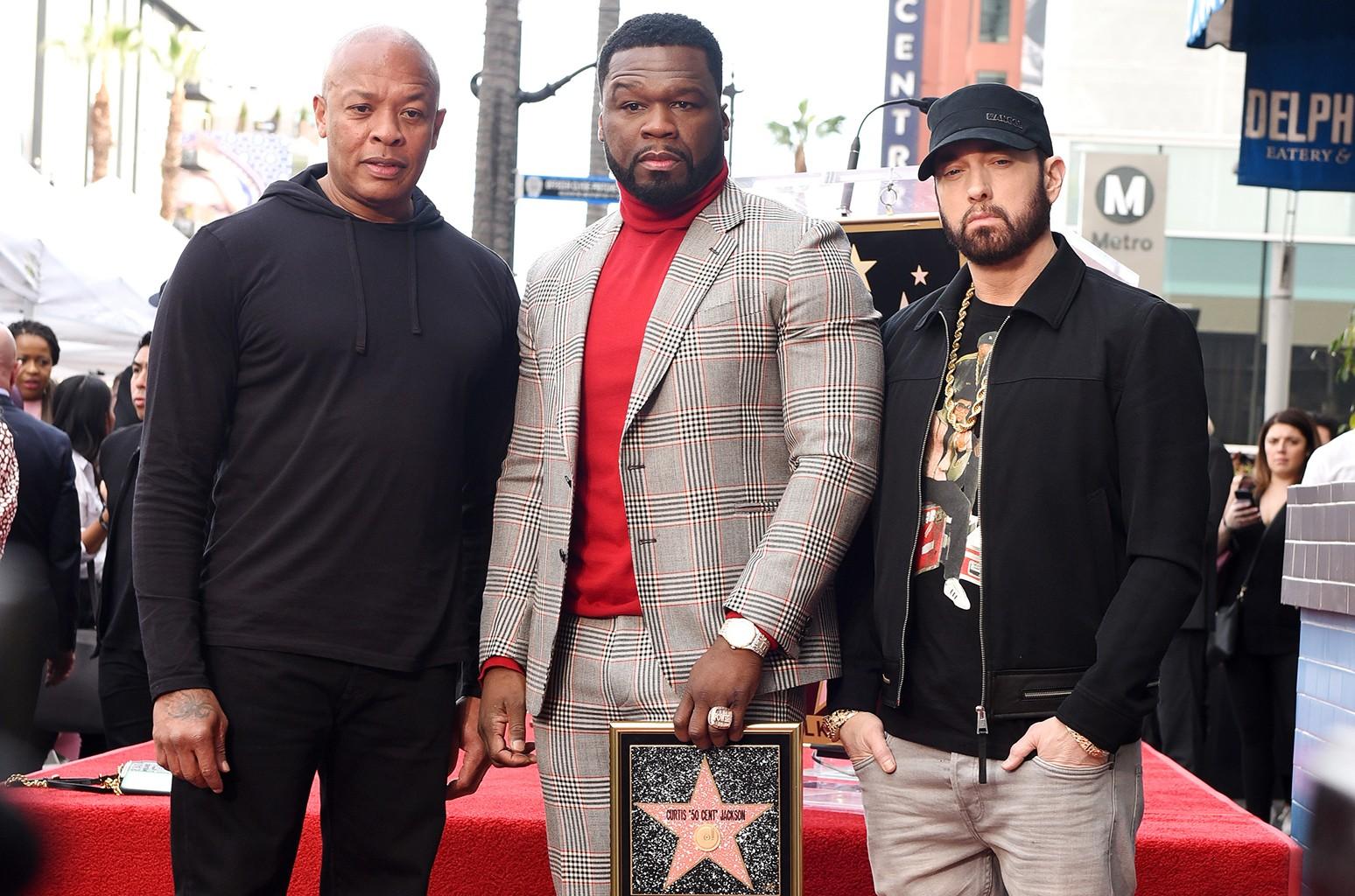 Dr. Dre, 50 Cent, and Eminem