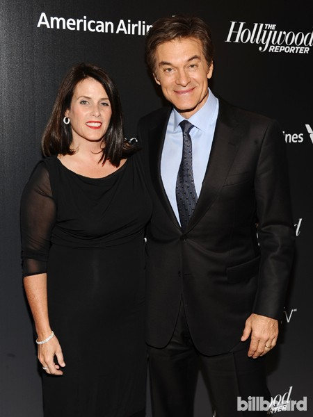 Lisa Oz and Mehmet Oz attend The 35 Most Powerful People in Media hosted by The Hollywood Reporter