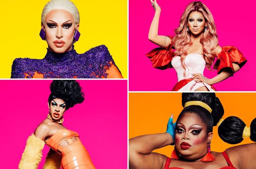 Brooke Lynn Hytes, Plastique Tiara Silky Nutmeg Ganache and Yvie Oddly