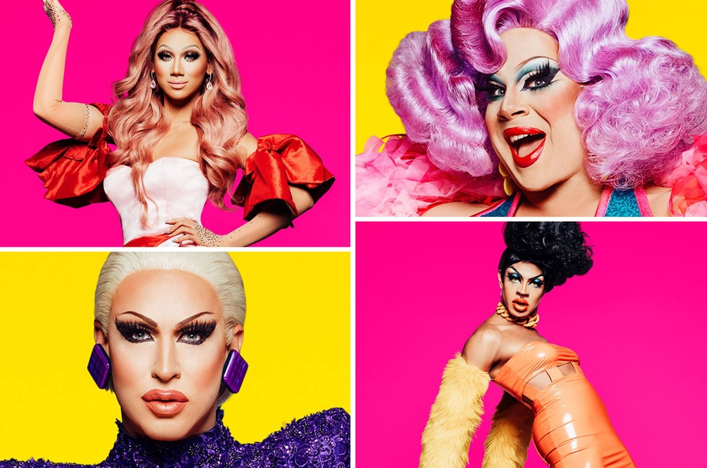 Plastique Tiara, Nina West, Yvie Oddly and Brooke Lynn Hytes