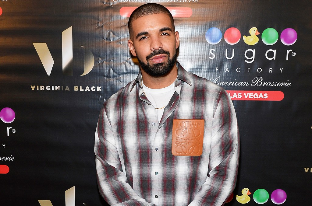 Drake at Sugar Factory American Brasserie at the Fashion Show mall on May 20, 2017 in Las Vegas.