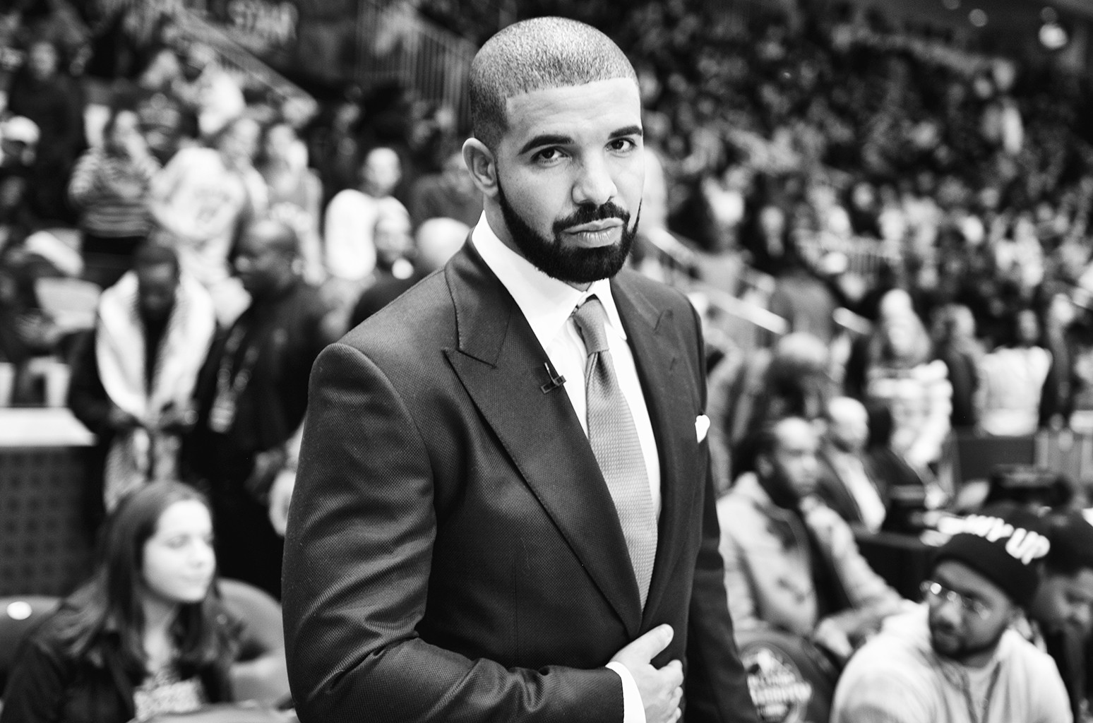 Drake attends the NBA All-Star Celebrity Game at Ricoh Coliseum in Toronto on Feb. 12, 2016.