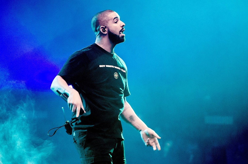 Drake performs on stage at the Ziggo Dome in Amsterdam, as part of his Boy Meets World Tour on Jan. 28, 2017.