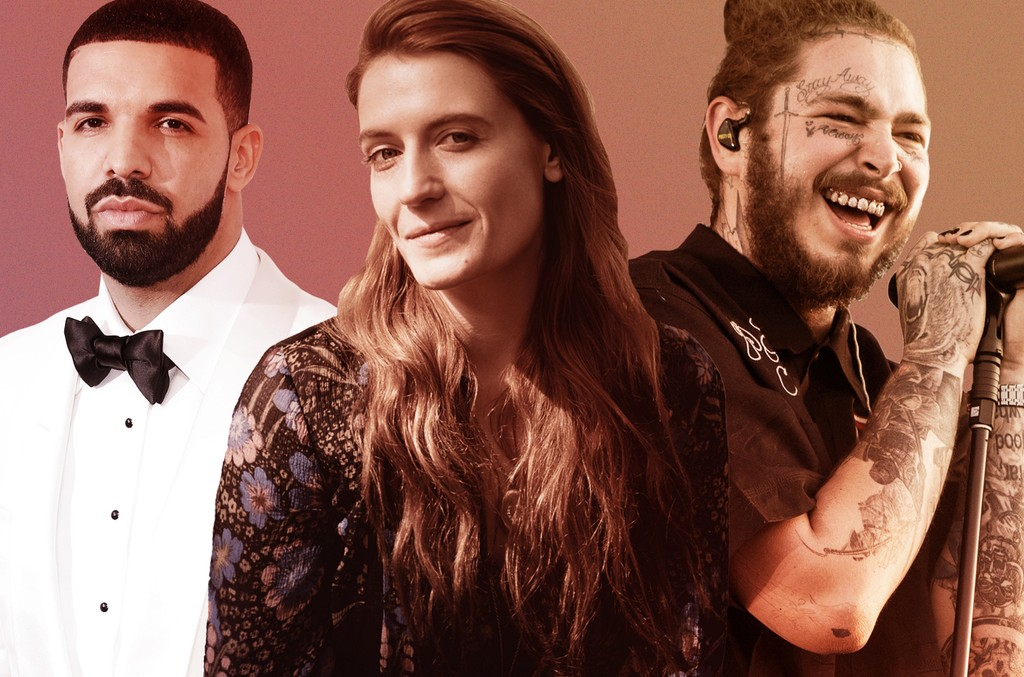 Drake Florence and the Machine Post Malone