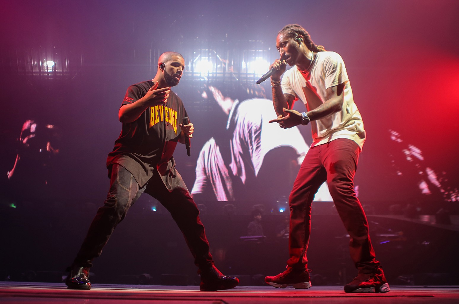 Drake and Future perform during The Summer Sixteen Tour