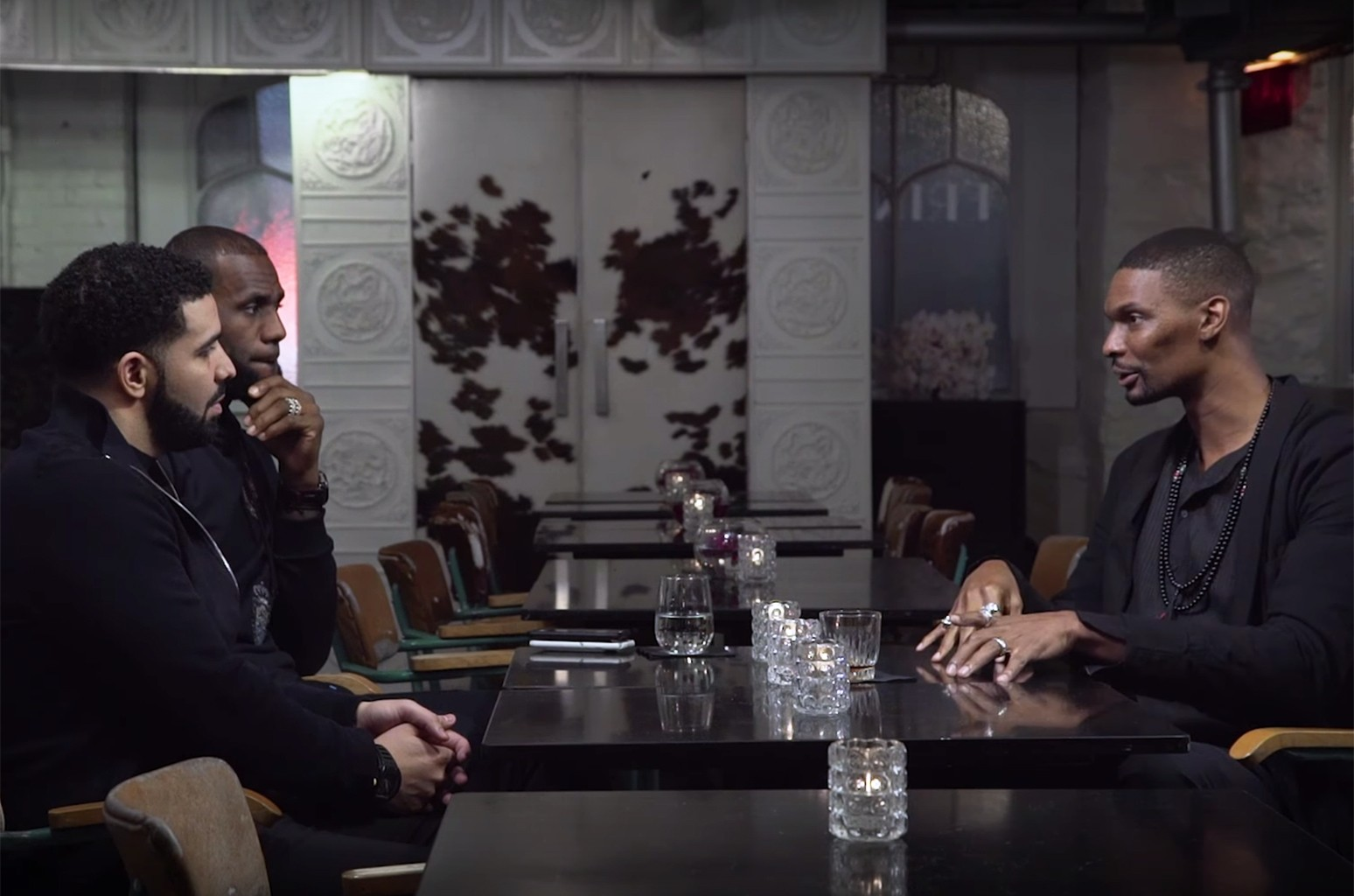 "Drake, LeBron and Chris Bosh in ""Who's Interviewing Who?"""