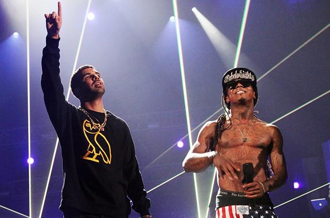 Drake and Lil Wayne perform at the 2011 BET Awards