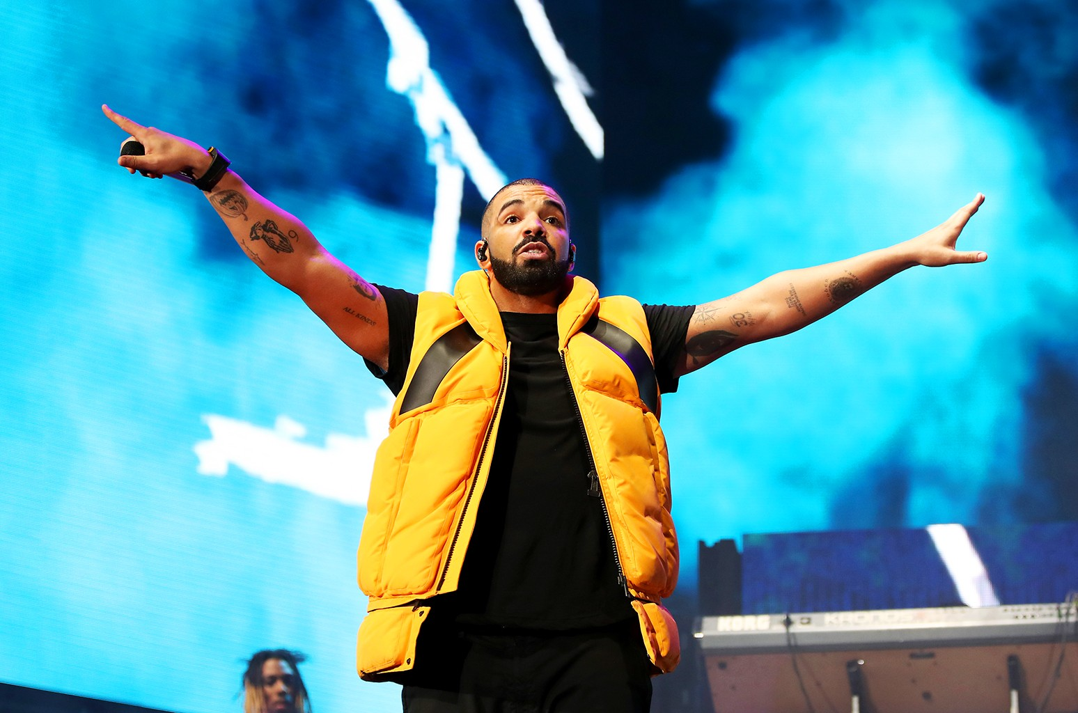 Drake performs on the Coachella stage during day 2 of the Coachella Valley Music And Arts Festival (Weekend 1) at the Empire Polo Club on April 15, 2017 in Indio, Calif.