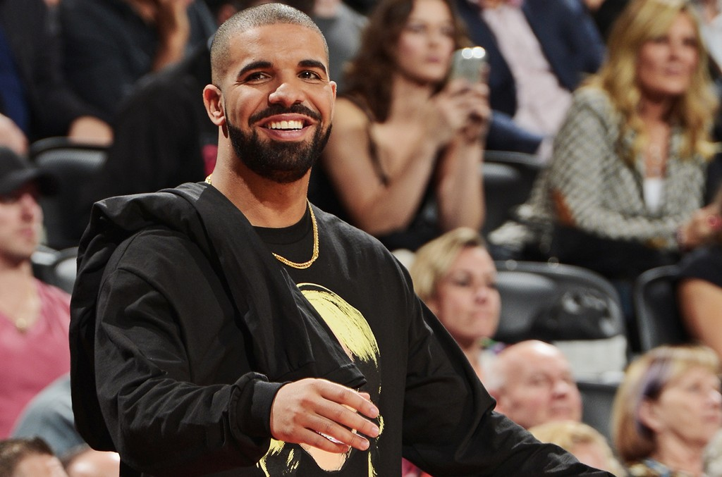Drake attends the Golden State Warriors game against the Toronto Raptors on Nov. 16, 2016 at the Air Canada Centre in Toronto, Ontario, Canada.