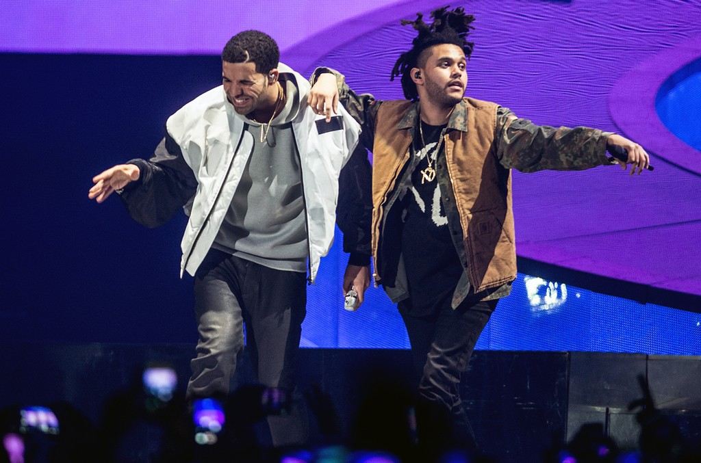 Drake and The Weeknd perform in 2014