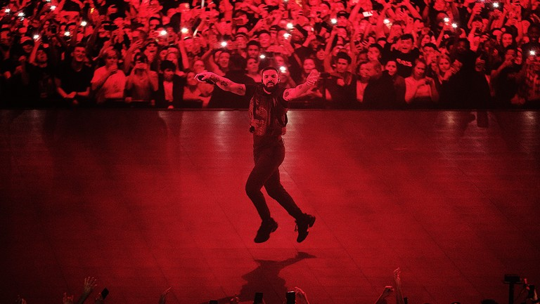 <p>Drake performs on stage at Tacoma Dome on Nov. 1, 2018 in Tacoma, Wash.&nbsp&#x3B;</p>