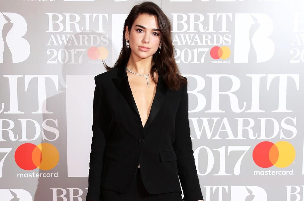 Dua Lipa at the Brit Awards in London on Feb. 22, 2017.