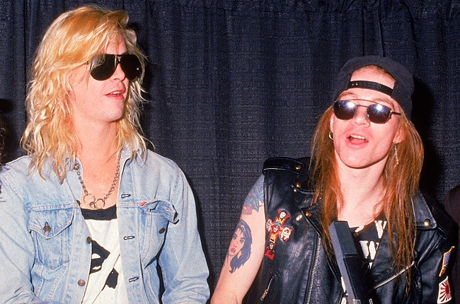 Duff and Axl of Guns N' Roses