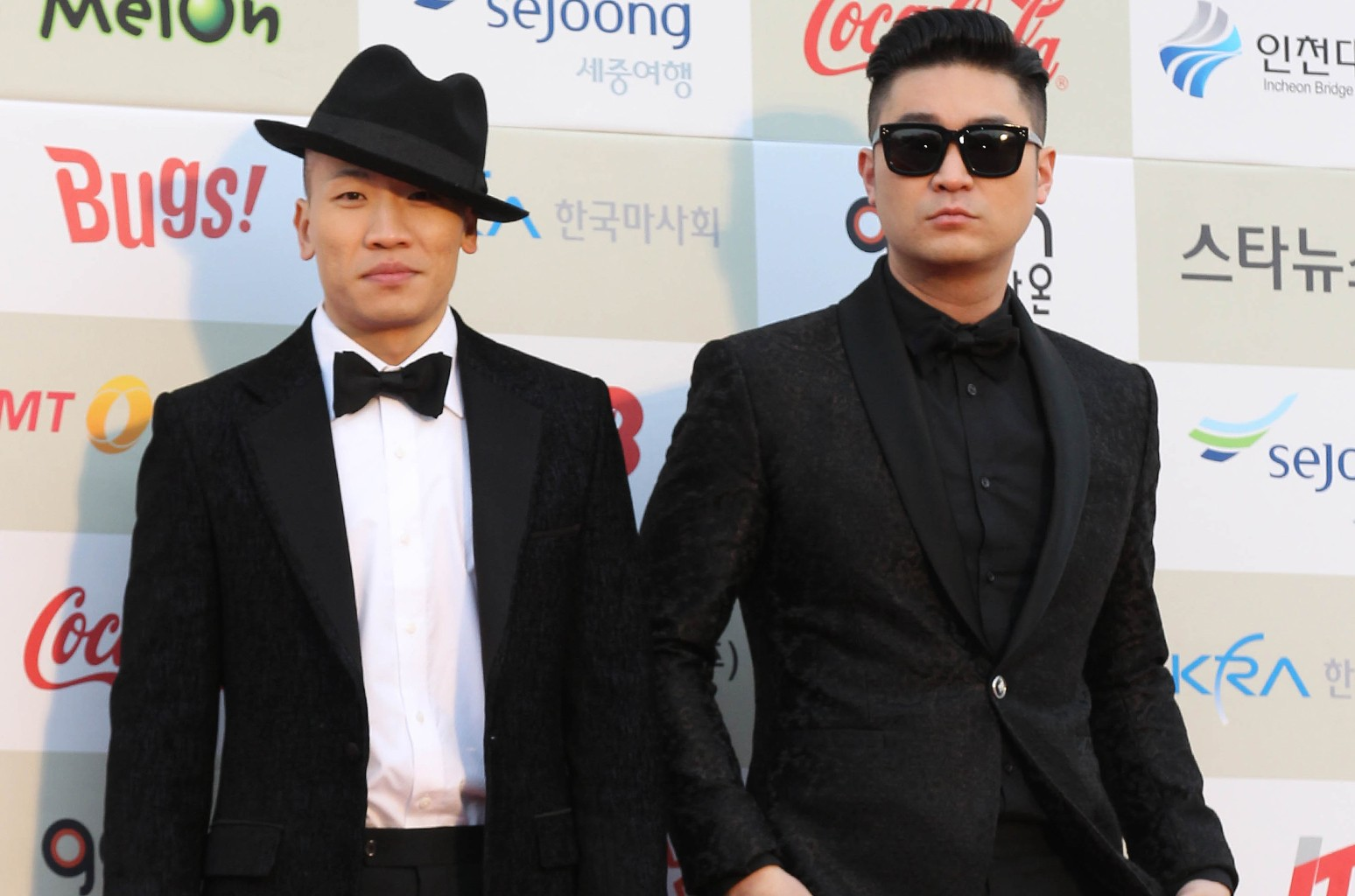Dynamic Duo attend the Gaon Chart K-pop Awards at Olympic Park on Feb. 12, 2014 in Seoul, South Korea.