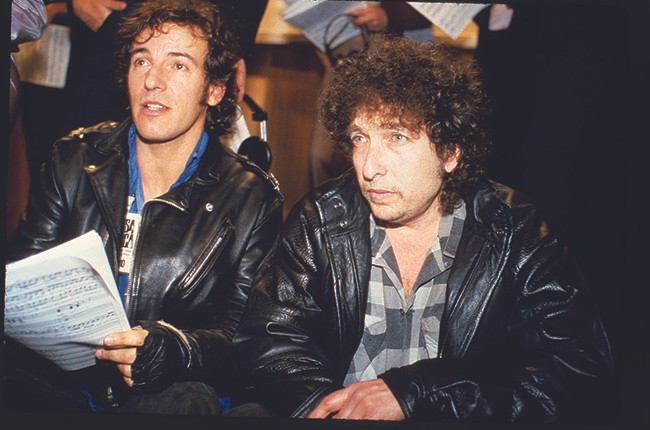 Bruce Springsteen and Bob Dylan