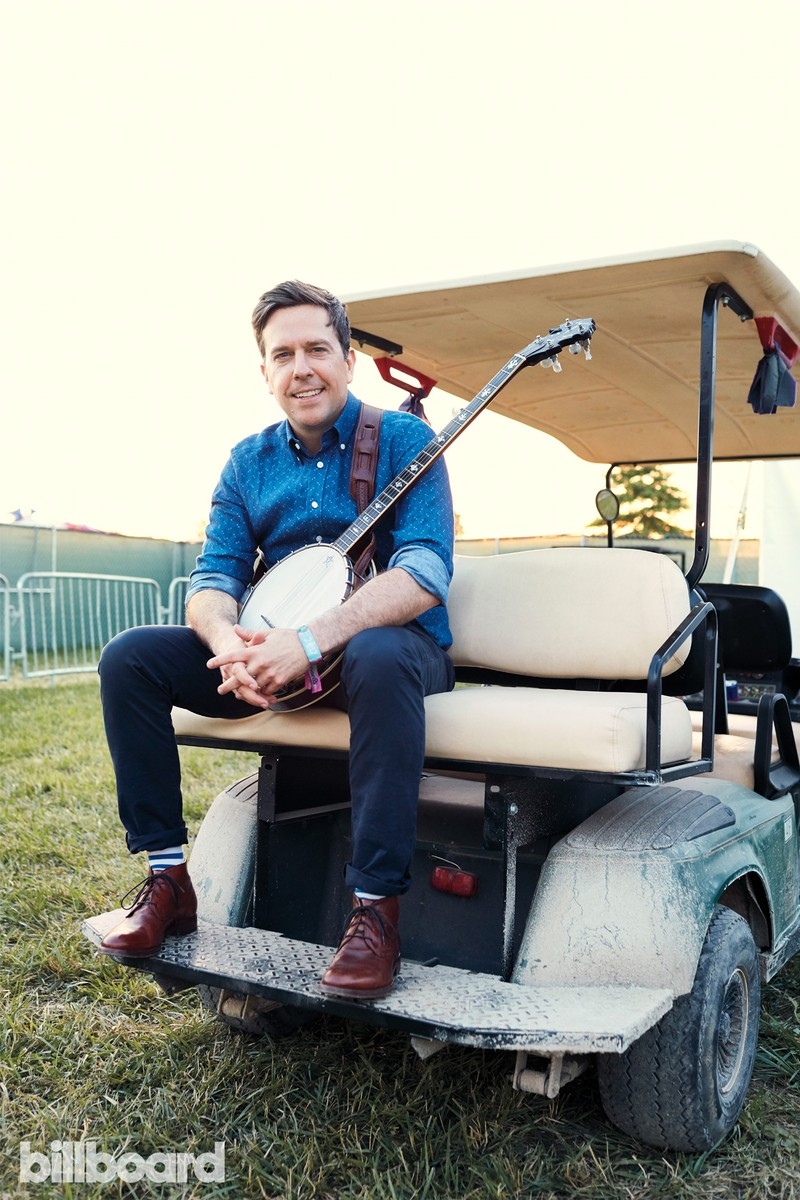 Ed Helms photographed on June 11th at Bonnaroo Music & Arts Festival in Manchester, TN.