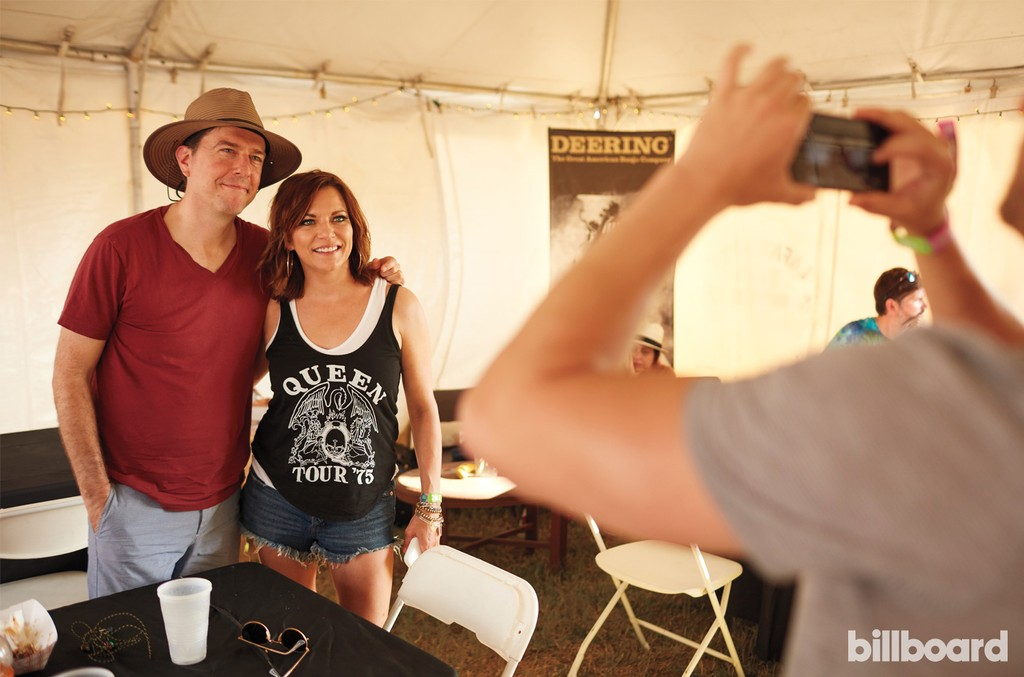 Ed Helms and Martina McBride photographed on June 11th at Bonnaroo Music & Arts Festival in Manchester, TN.