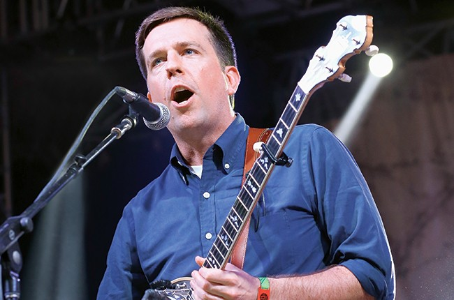 Ed Helms with The Bluegrass Situation Superjam Bonnaroo 2014