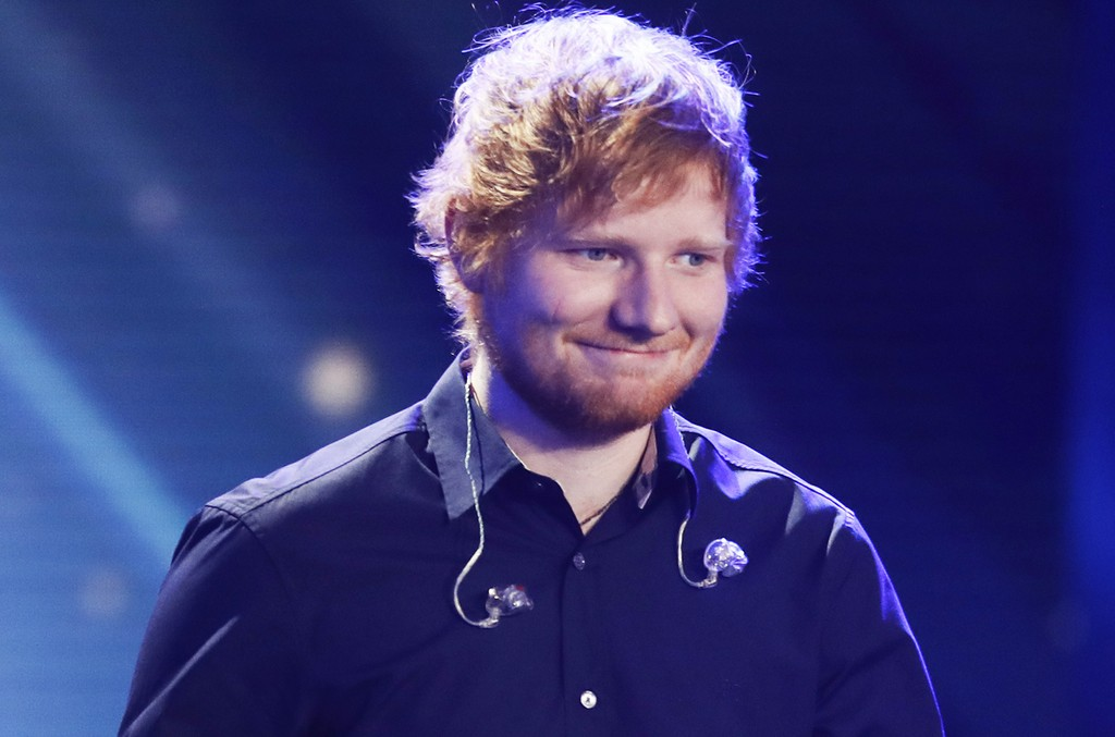 Ed Sheeran during the Goldene Kamera show on March 4, 2017 in Hamburg, Germany.