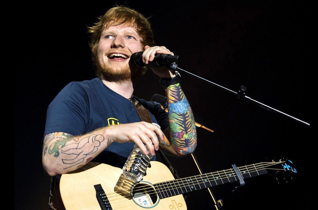 Ed Sheeran performs at the Hallenstadion in Zurich, Switzerland on March 19, 2017.