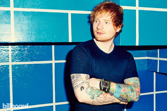 Ed Sheeran photographed for Billboard magazine on Sept. 26, 2015 at Elvis Guesthouse in New York City.