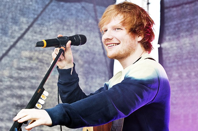 Ed Sheeran performs in Berlin