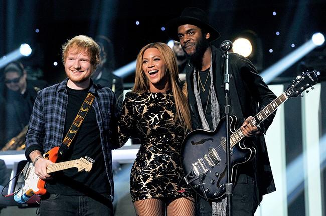 Ed Sheeran, Beyonce and Gary Clark Jr