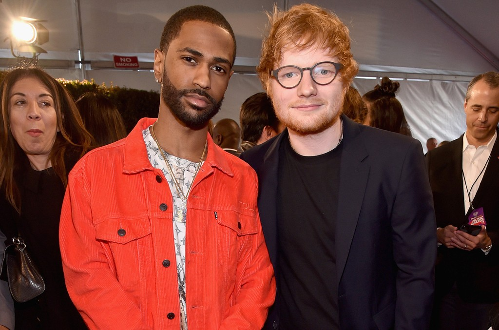 Big Sean and Ed Sheeran attend the 2017 iHeartRadio Music Awards which broadcast live on Turner's TBS, TNT, and truTV at The Forum on March 5, 2017 in Inglewood, Calif.