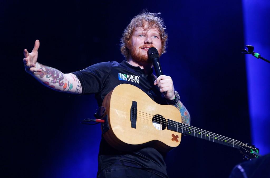 Ed Sheeran performs in 2015
