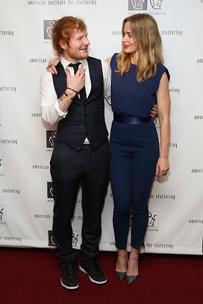 Ed Sheeran and Emily Blunt