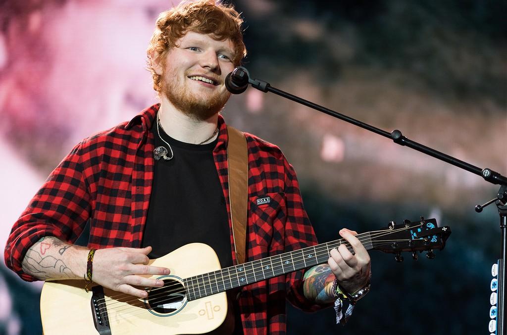 Ed Sheeran headlines on the Pyramid Stage during day 4 of the Glastonbury Festival 2017 at Worthy Farm, Pilton on June 25, 2017 in Glastonbury, England.