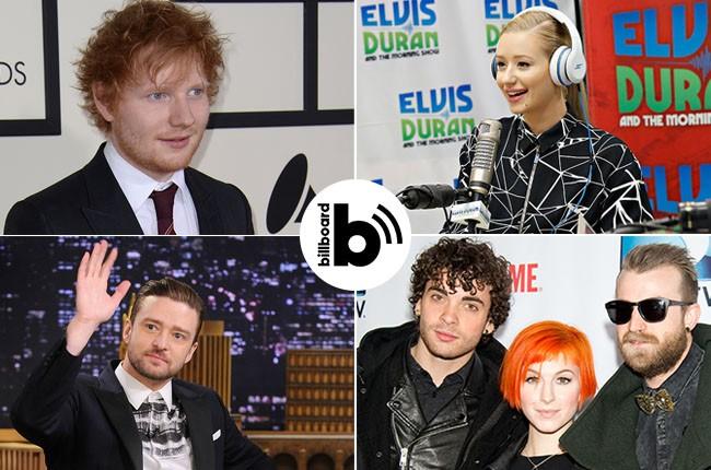 Ed Sheeran, Iggy Azalea, Paramore, and Justin Timberlake