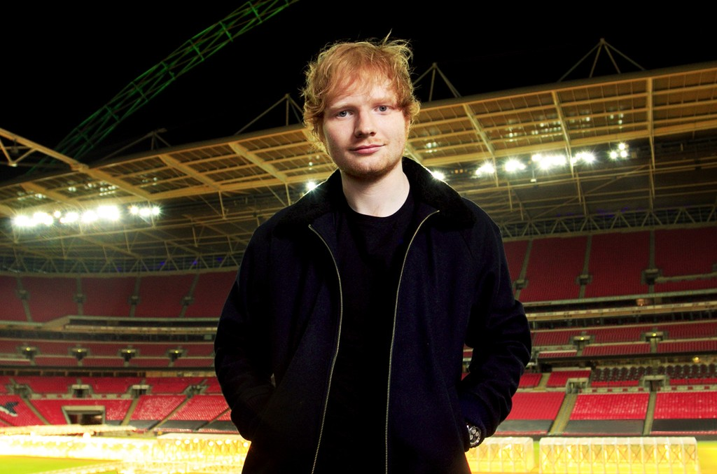 Ed Sheeran photographed at Wembley Stadium on Nov. 10, 2014 in London.